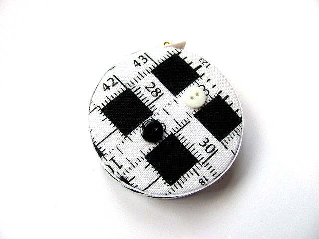 Retractable Measuring Tape Black and White Tape Measure Fabric Retractable Tape