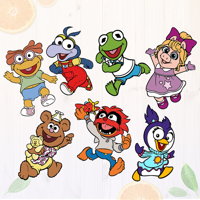 Muppets Babies Svg, Muppets Babies Clipart, Cutfiles: Dxf, Svg, Eps & Png,