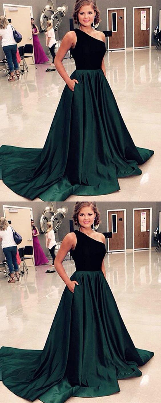 Green Velvet Evening Gown