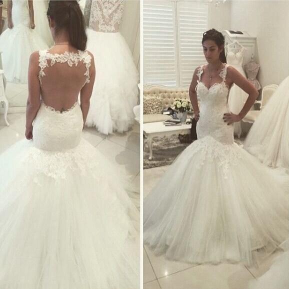 Cheap wedding dresses 2018,Elegant Mermaid Long White Wedding Dress Bridal Gown