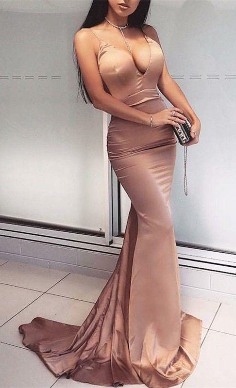 Mermaid Scoop Criss-Cross Straps Sweep Train Fuchsia Velvet Prom Dress
