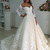 Cheap wedding dresses 2018,Sheer Neck Long Sleeves Ivory Wedding Dress with Lace