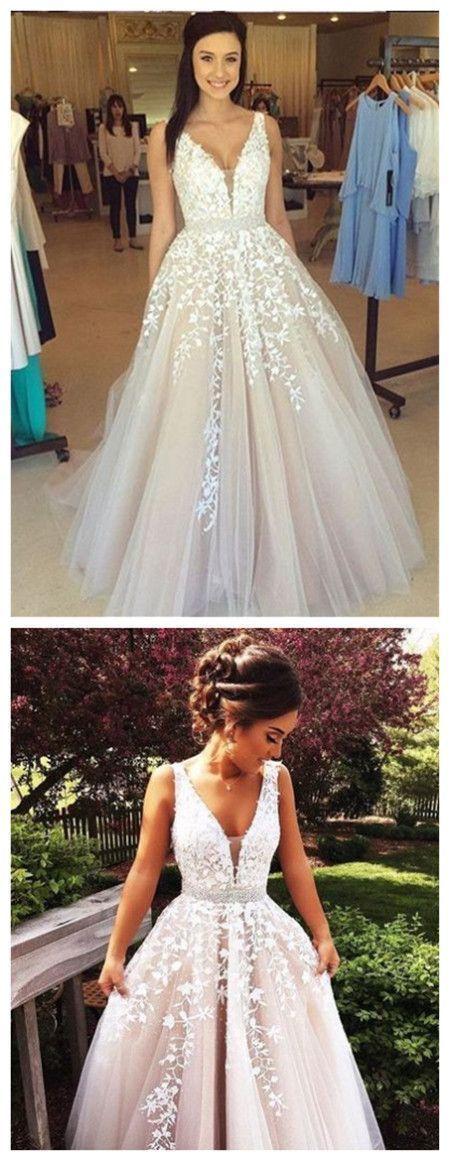 V Neck Prom Dress,Lace Prom Dresses,Sexy Prom Dress,Formal Dress 2019,Evening