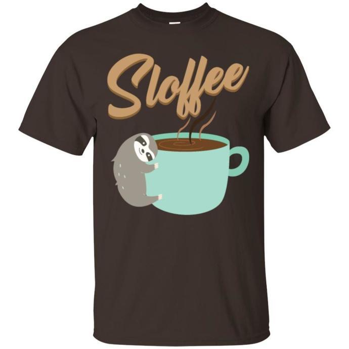 Sloffee Coffee Sloth caffeine wake up breakfast Men T-shirt