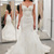 Lace Appliques Sweetheart Cap Sleeves Floor Length Mermaid Wedding Dress