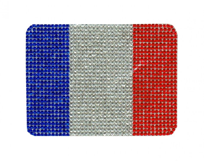 Diamond Flag of France Patch Embroidered Iron on Patches Clothes Appliques Sew