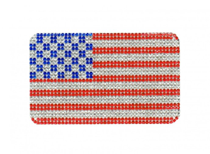 Diamond Flag of America Patch Embroidered Iron on Patches Clothes Appliques Sew