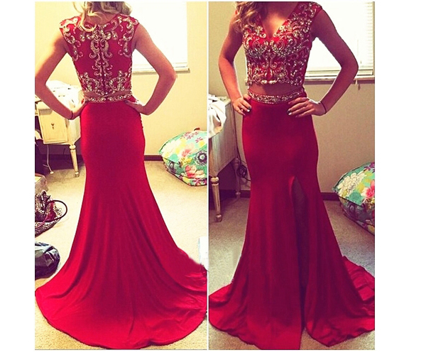 898fbe2efc0 Formal Dresses Prom Dress 2 Piece Prom Gown