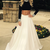 Long Sleeves Black Top And White Skirt Prom Dresses,Charming Evening