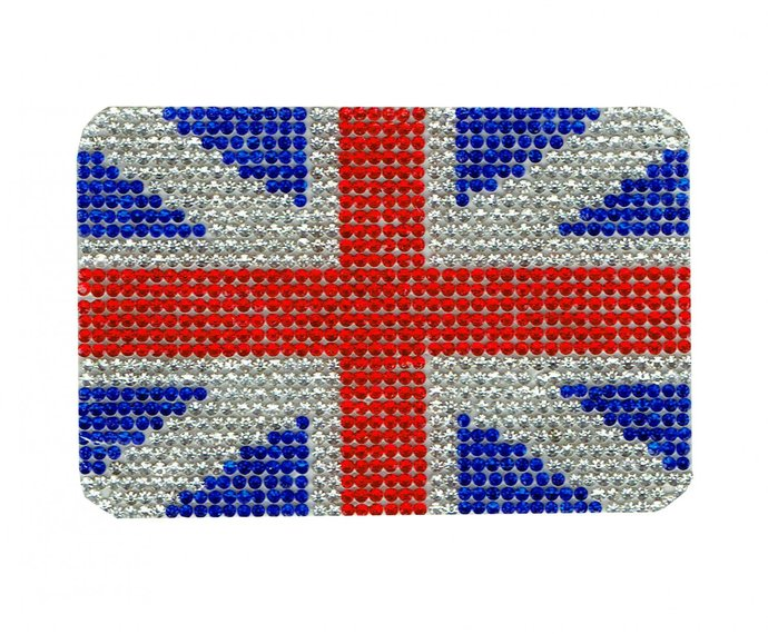 British Flag Diamond Patch Embroidered Iron on Patches Clothes Appliques Sew