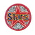 Star Diamond Pink label Patch Embroidered Iron on Patches Clothes Appliques Sew