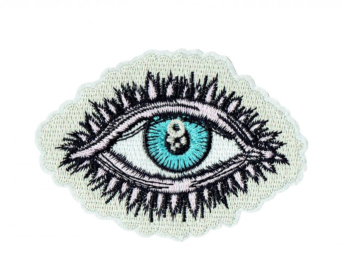 Eyes Patch Embroidered Iron on Patches Clothes Appliques Sew Crafts