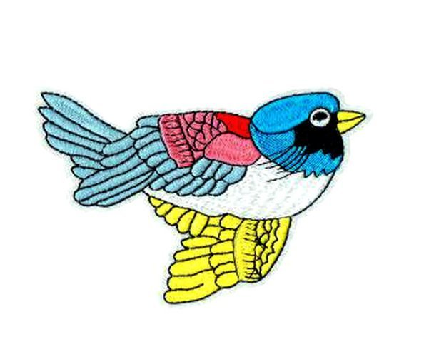 Beautiful Colorful Birds Patch Embroidered Iron on Patches Clothes Appliques Sew