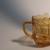 Chevron cuteness. Amber colored milk jug.