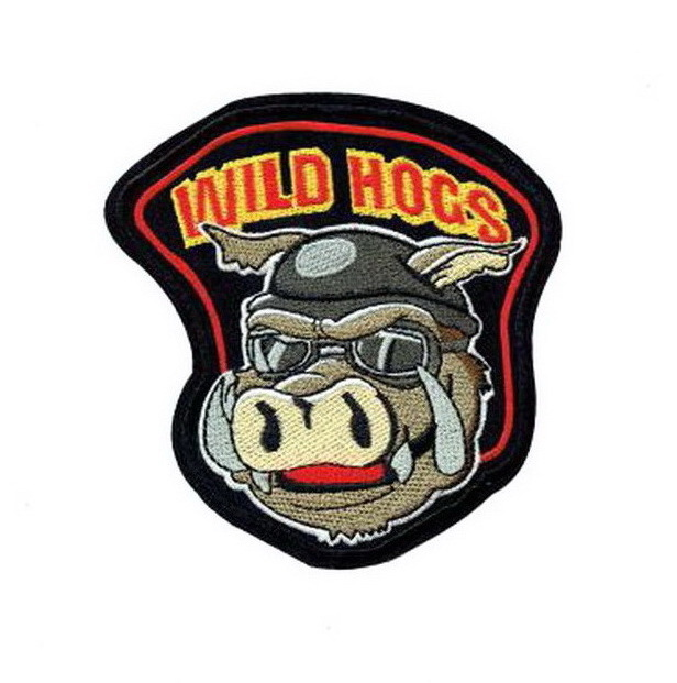 Wild Hogs Wild boar Patch Embroidered Iron on Patches Clothes Appliques Sew