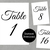 Event or Wedding Table Sign Numbers 1 to 30