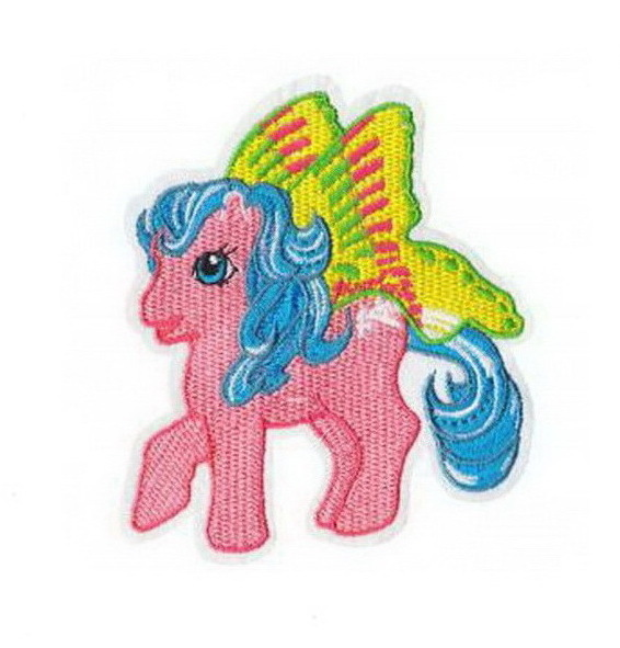 My Little Pony With Fairy Wings Patch Embroidered Iron on Patches Clothes