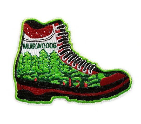 Muir Woods on Boots Patch Embroidered Iron on Patches Clothes Appliques Sew