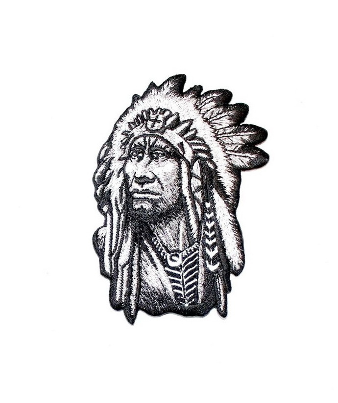 Red Indian Patch Embroidered Iron on Patches Clothes Appliques Sew Crafts