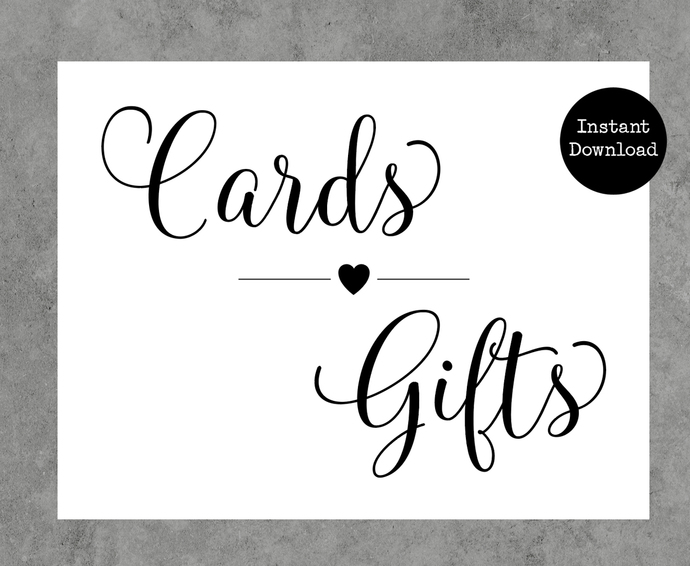 Cards and Gifts Printable Wedding Sign