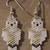 Snowy Owl Earrings Hand Made Seed Beaded Bead Work