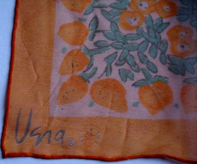 Vera Neumann Verasheer Floral In Yellow Peach And Green Ladybug Scarf