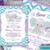 Peanut Elephant Invitation Purple and Teal Chevron Babygirl
