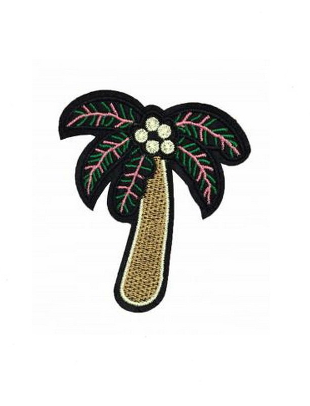 Hawaiian Coconut Tree Patch Embroidered Iron on Patches Clothes Appliques Sew