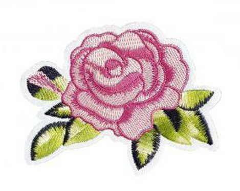 Sweet Drift Rose Patch Embroidered Iron on Patches Clothes Appliques Sew Crafts