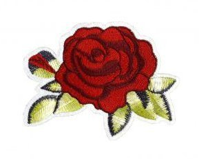 Red Roses Patch Embroidered Iron on Patches Clothes Appliques Sew Crafts