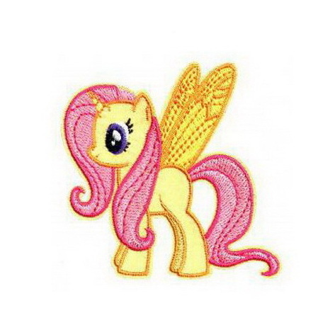 My Little Pony Yellow-winged Patch Embroidered Iron on Patches Clothes Appliques