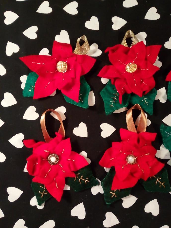 Poinsettia ornaments
