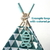 Small size pet teepee including linen mix or fake fur pillow. Chihuahua, rabbit,