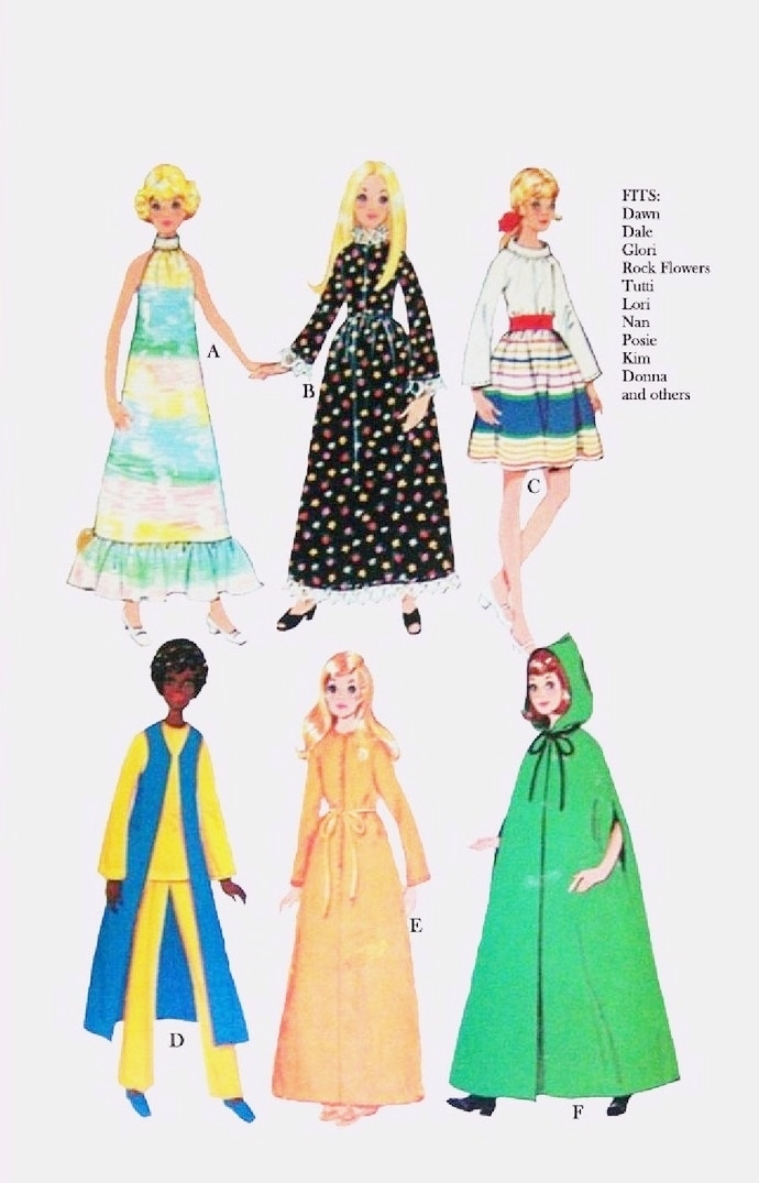 Instant PDF Download Vintage Sewing Pattern to make Spectacular Clothes for 5
