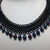 beaded chainmaille necklace, chain mail choker, black Gothic necklace