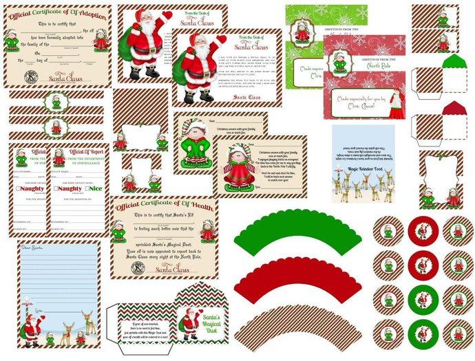 Elf on the Shelf Printable Kit, Hello Letter, Goodbye Letter, Elf Report, Letter