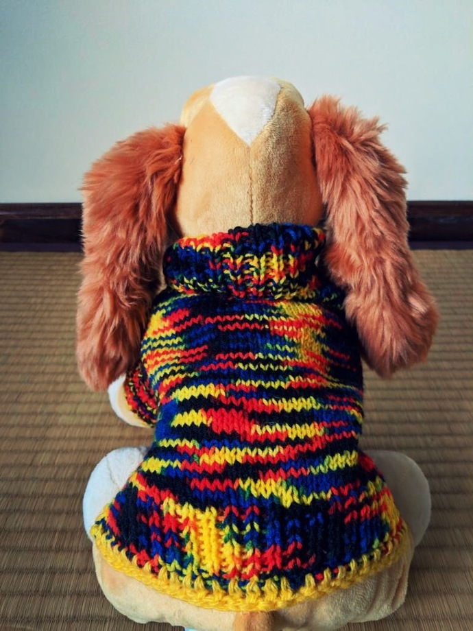 Hand-knit Dog Sweater
