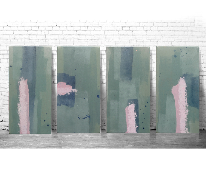 Abstract Wall Art , Green Painting Modern Home Decor, Living Room, Bedroom set