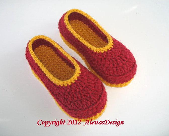 Crochet Pattern 074 Crochet Slippers Pattern Women's Slippers Amy Flower Booties