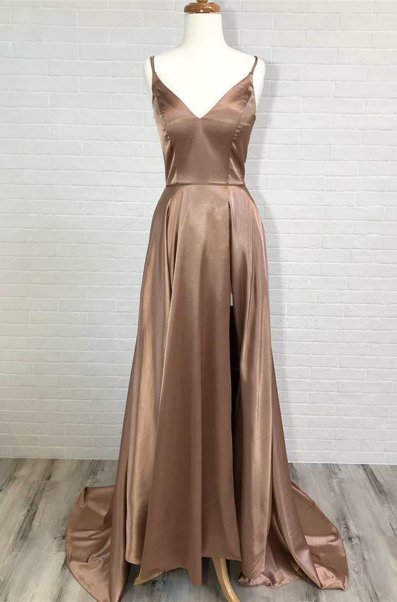5f160d0f2e champagne long prom dress