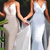 Timeless Spaghetti Straps V-Neck Bridesmaid Dress Sleeveless Floor-length