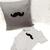 Baby Boy Gift Set. Mustache Appliqued Blue Stripes Infant Boy Onesie Romper.