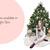 Watercolor fashion illustration - Christmas Girl 6 - Dark Skin