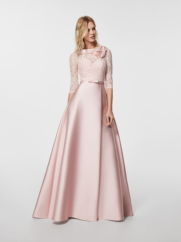 A-Line 3/4 Length Sleeves Lace Mother of The Bride Dresses
