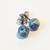Small Ball ear studs, organic cobalt blue