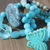 Bohemian Stacking Bracelets in shades of Aqua, gift for the hippie, Natural