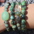 Set of 4 Turquoise stacking Bracelets with Boulder chrysophase Jade Jasper