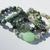 Set of 4 Turquoise stacking Bracelets with Boulder chrysophase Jade Jasper