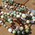 Bohemian Rapsody Long Double Wrap Gemstone Necklace with Aquaprase Pendant by