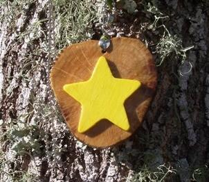 Wish Upon a Star Handcrafted Wood Pendant